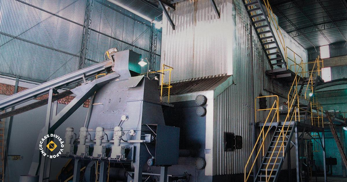 caldeira aquatubular - na imagem tem uma caldeira aquatubular da Engecass Vapor